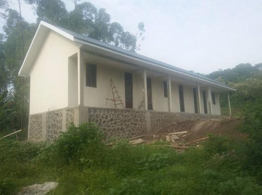 Principios agosto 2018 primer edificio construido